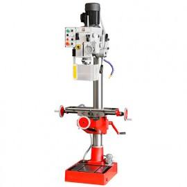 Perceuse fraiseuse métal à colonne D. 40 mm 2 vitesses, table croisée et refroidissement 400 V 1700 et 1100 W - ZX 50PC HOLZMANN