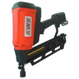 Cloueur pour bois à gaz sans fil 6 V NiMh pour pointes en bande 20° - F 90 G1 - 12A2290N Alsafix