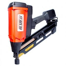 Cloueur pour bois à gaz sans fil 6 V NiMh pour pointes en bande 34° - D 90 G1 - 12A3490N Alsafix