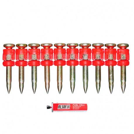 800 clous béton C5-38 XTRA-HARD (XH) x L. 38mm + 2 cartouches de gaz C4 pour cloueur TRAK-IT C5 - PO65390 Alsafix