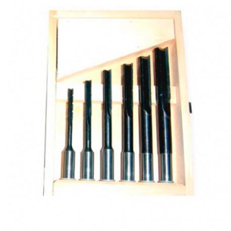 Coffret 6 mèches à mortaiser à droite WS D. 6 à 16 x Q 6 à 13 mm - 5051000 - Holzprofi