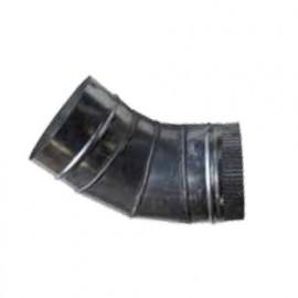 Coude d'aspiration D. 120 mm Angle 45° - AB-UCO120/45 - Holzprofi