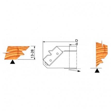 Jeu de 2 plaquettes de rechange pour PO bouvetage d'angle - PBA03 - Holzprofi