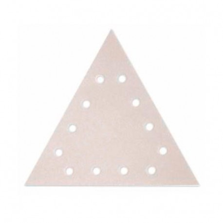 25 triangles abrasifs perforés 12 trous auto-agrippants 225 x 225 x 225 mm Gr. 80 - 309080 - FLEX
