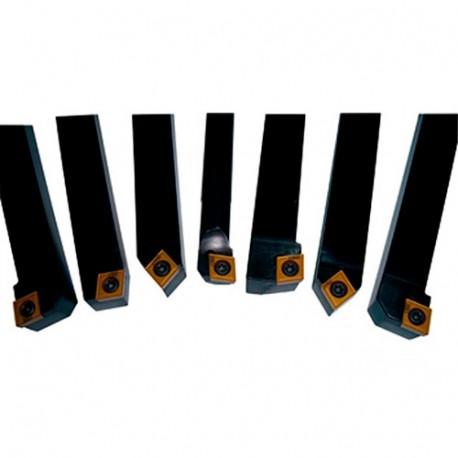 Coffret PRO 7 outils de tournage métal TCT 12 mm - 7TLG12HQ - HOLZMANN