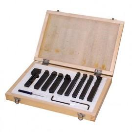 Coffret 9 outils de tournage métal TCT 16 mm - 9TLG16 - HOLZMANN