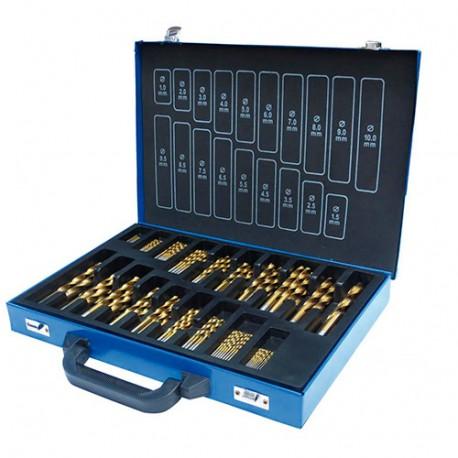 Coffret 170 forets métal HSS TiN de 1 à 10 mm - SPS170TIN - HOLZMANN