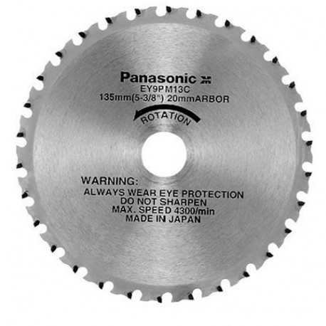 Lame acier D. 135 x 20 mm x Z 30 dents pour scie circulaire EY45A2L - EY9PM13C - Alsafix