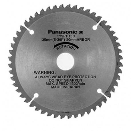 Lame pour plastique D. 135 x 20 mm x Z 52 pour scie circulaire EY45A2L - EY9PP13B - Alsafix