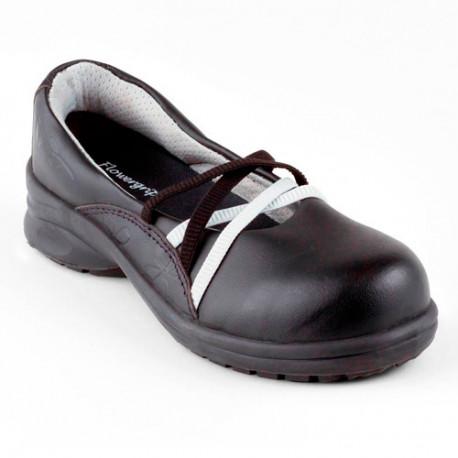 Chaussures de sécurité femme gamme Flowergrip DAHLIA NOIR S2 SRC