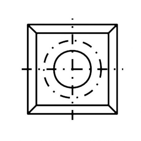 Plaquette / araseur réversible carbure K05 4 coupes 14 x 14 x 2.0 mm 30° - 013260 DIAMWOOD