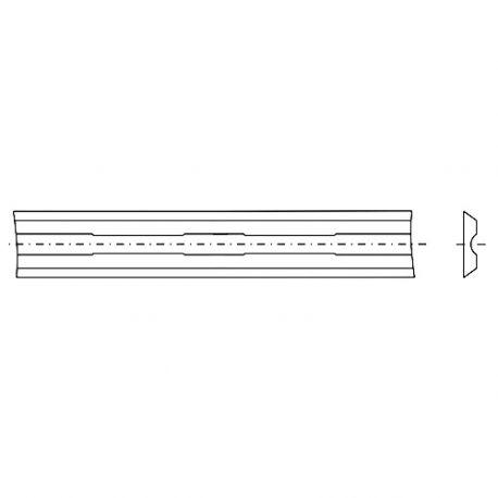 Fer / plaquette réversible carbure K30 2 coupes 82 x 5,5 x 1,1 mm 35° pour rabot portatif - Diamwood