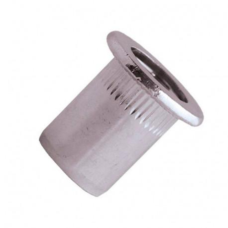 100 écrous à sertir crantés alu TP, D. M8 x 17.5 mm - EAD0830 - Scell-it