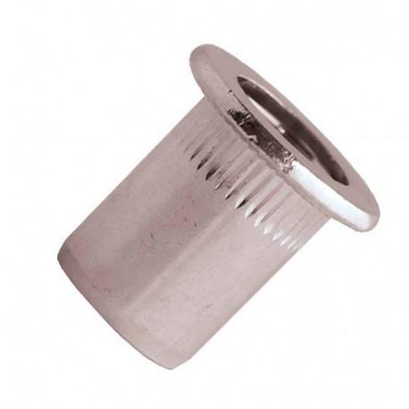 200 écrous à sertir crantés inox A2 TP, D. M5 x 13 mm - END0530 - Scell-it