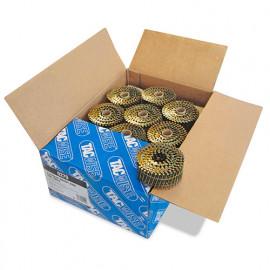 Boîte de 9000 clous à tête plate, annelés en rouleau D. 2,3 x 50 mm - Tacwise - 0279