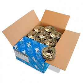 Boîte de 9000 clous à tête plate, annelés en rouleau D. 2,5 x 45 mm - Tacwise - 0421