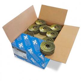 Boîte de 9000 clous à tête plate, annelés en rouleau D. 2,5 x 50 mm - Tacwise - 0422