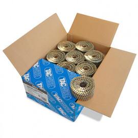 Boîte de 9000 clous à tête plate, annelés galvanisés en rouleau D. 2,5 x 50 mm - Tacwise - 0423