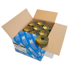 Boîte de 9000 clous à tête plate, annelés en rouleau D. 2,5 x 55 mm - Tacwise - 0424