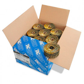 Boîte de 9000 clous à tête plate, annelés en rouleau D. 2,5 x 60 mm - Tacwise - 0425