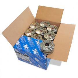 Boîte de 9000 clous à tête plate, annelés galvanisés en rouleau D. 2,5 x 64 mm - Tacwise - 0428