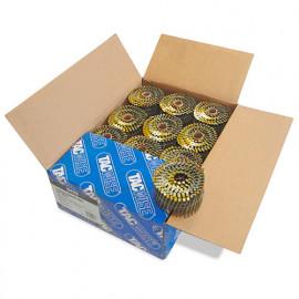 Boîte de 6000 clous à tête plate, annelés en rouleau D. 2,7 x 64 mm - Tacwise - 0429