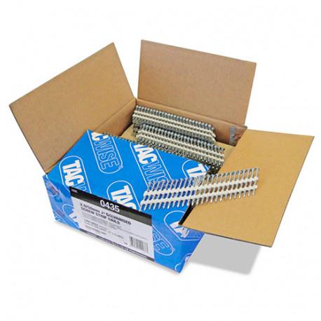 Boîte de 3000 clous à tête ronde, filetés extra galvanisés en bande plastique 22° D. 2,9 x 50 mm - Tacwise - 0435