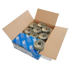 Boîte de 4000 clous à tête plate, annelés extra galvanisés en rouleau D. 2,8 x 50 mm - Tacwise - 0777