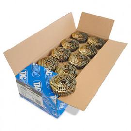Boîte de 14 400 clous à tête plate, annelés en rouleau D. 2,1 x 30 mm - Tacwise - 0993