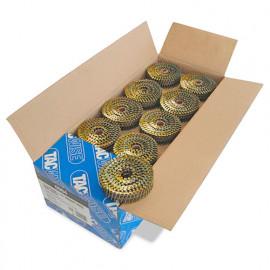 Boîte de 14 400 clous à tête plate, annelés en rouleau D. 2,1 x 35 mm - Tacwise - 0994