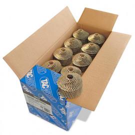 Boîte de 14 400 clous à tête ronde, annelés galvanisés en rouleau D. 2,1 x 50 mm - Tacwise - 1012