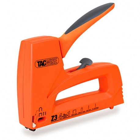 Agrafeuse cloueuse manuelle Z3 4 en 1, agrafes type 53, clous calibre 180, agrafes cables CT-60 - Tacwise - 1022