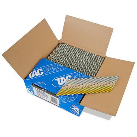 Boîte de 2200 clous, annelés extra galvanisés en bande papier 34° D. 3,1 x 65 mm - Tacwise - 1120