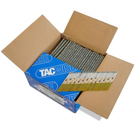 Boîte de 2200 clous, annelés extra galvanisés en bande papier 34° D. 3,1 x 75 mm - Tacwise - 1121