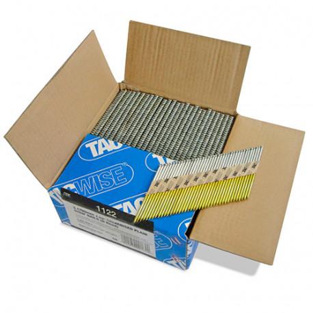 Boîte de 2200 clous, pleins extra galvanisés en bande papier 34° D. 3,1 x 90 mm - Tacwise - 1122