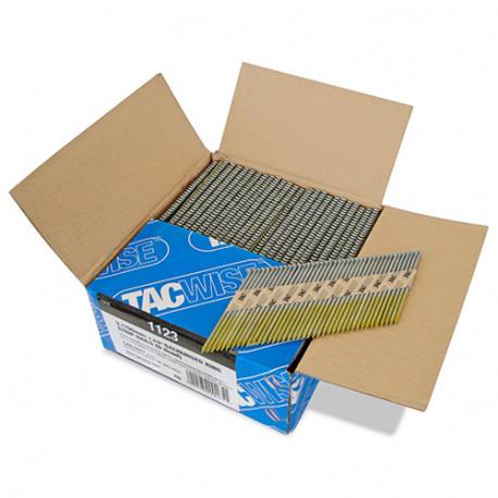 Boîte de 2200 clous, annelés extra galvanisés en bande papier 34° D. 3,1 x 90 mm - Tacwise - 1123