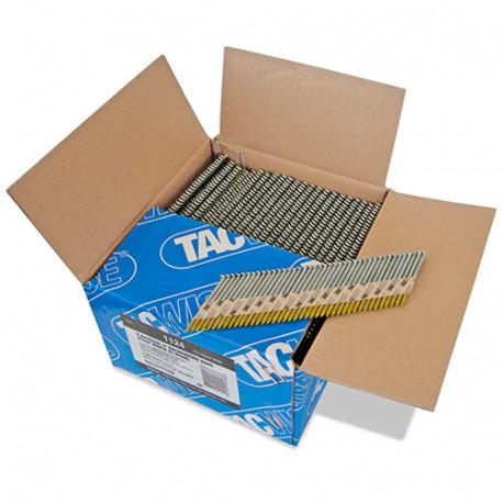 Boîte de 3300 clous, annelés extra galvanisés en bande papier 34° D. 2,8 x 50 mm - Tacwise - 1124