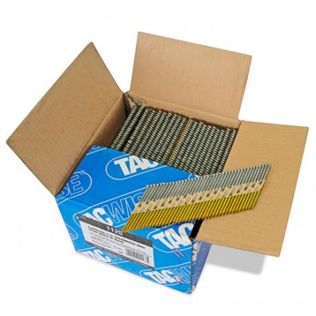 Boîte de 3300 clous, annelés extra galvanisés en bande papier 34° D. 2,8 x 65 mm - Tacwise - 1125