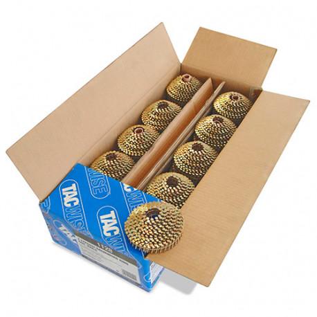 Boîte de 14 400 clous à tête ronde, annelés galvanisés en rouleau D. 2,1 x 22 mm - Tacwise - 1128