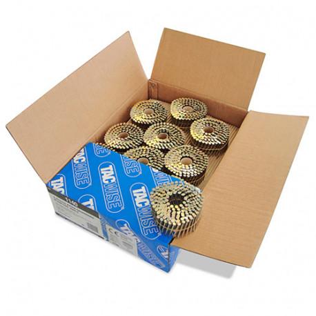 Boîte de 4000 clous à tête plate, lisses extra galvanisés en rouleau D. 2,8 x 50 mm - Tacwise - 1140