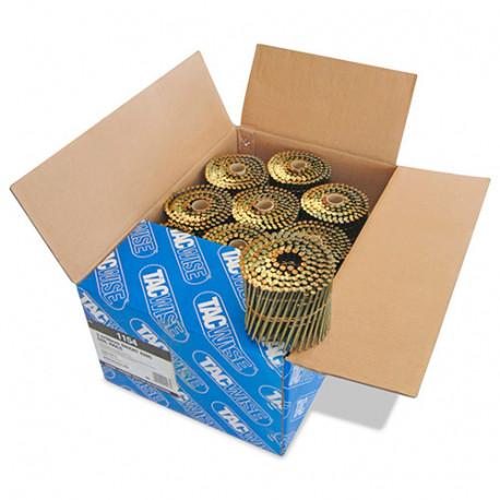 Boîte de 4000 clous à tête plate, annelés en rouleau D. 3,3 x 98 mm - Tacwise - 1154
