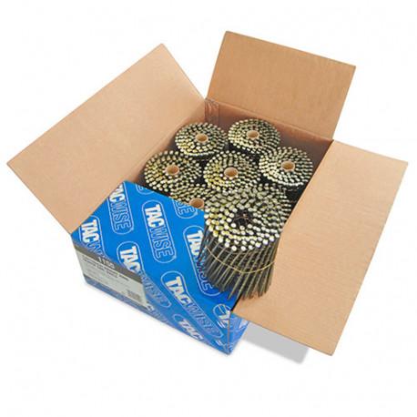Boîte de 1500 clous à tête plate, filetés en rouleau D. 3,8 x 130 mm - Tacwise - 1155