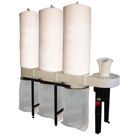 Aspirateur mobile 3 sacs, 480 litres 3750 W 400 V - FM350-TRI - Jean L'ébéniste