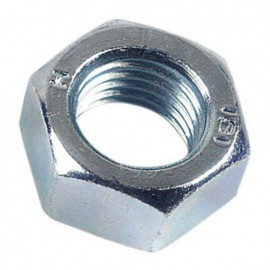 Ecrou hexagonal M10 mm HU Zingué - Boite de 100 pcs - fixtout 01081002B