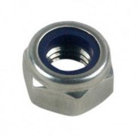 Ecrou frein indesserrable bague nylon M22 mm Zingué - Boite de 25 pcs - fixtout 05082202B