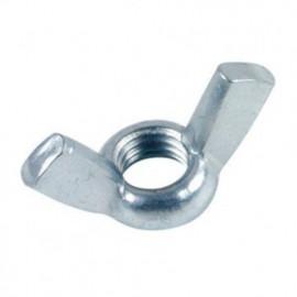Ecrou à oreilles forme Américaine M14 mm Zingué - Boite de 50 pcs - fixtout 11001402B