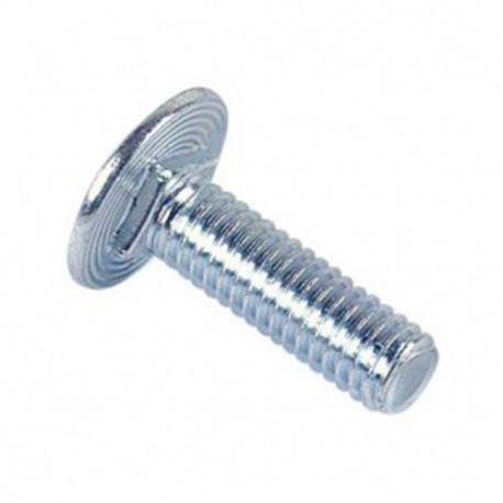 Vis tête ronde collet carré réduit 6 x 20 mm TRCC Zinguée - Boite de 200 pcs - fixtout 32062002B