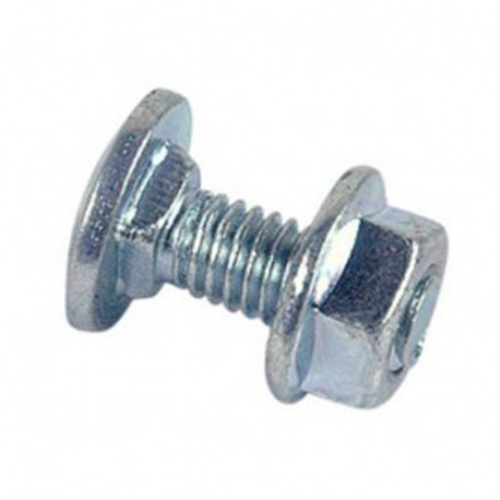 Boulon de cornière tête ronde collet carré réduit 6 x 12 mm TRCC Zingué - Boite de 200 pcs - fixtout 33061202B