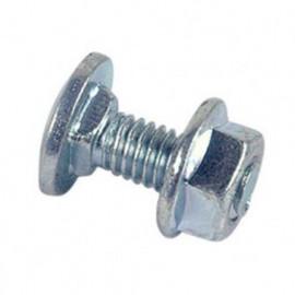 Boulon de cornière tête ronde collet carré réduit 6 x 16 mm TRCC Zingué - Boite de 200 pcs - fixtout 33061602B