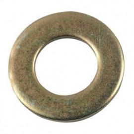 Rondelle plate étroite M6 mm Z Zinguée bichromatée - Boite de 500 pcs - fixtout 41000603B